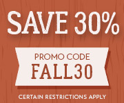 Save with promo code FALL30
